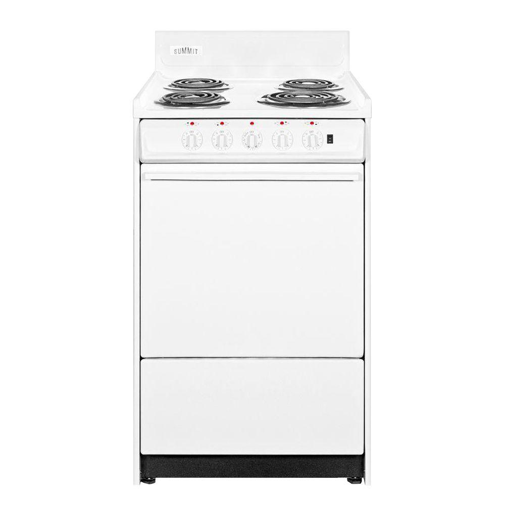 Summit Appliance 24 in. 2.92 cu. ft. Electric Range in White