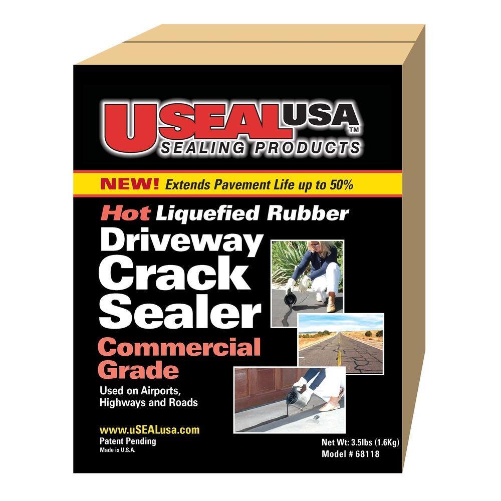 Useal usa 4 lb driveway crack sealer 68118 the home depot driveway crack sealer solutioingenieria Choice Image