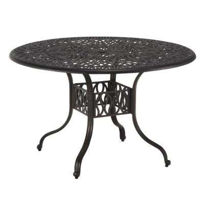 Floral Blossom 48 in. Round Patio Dining Table