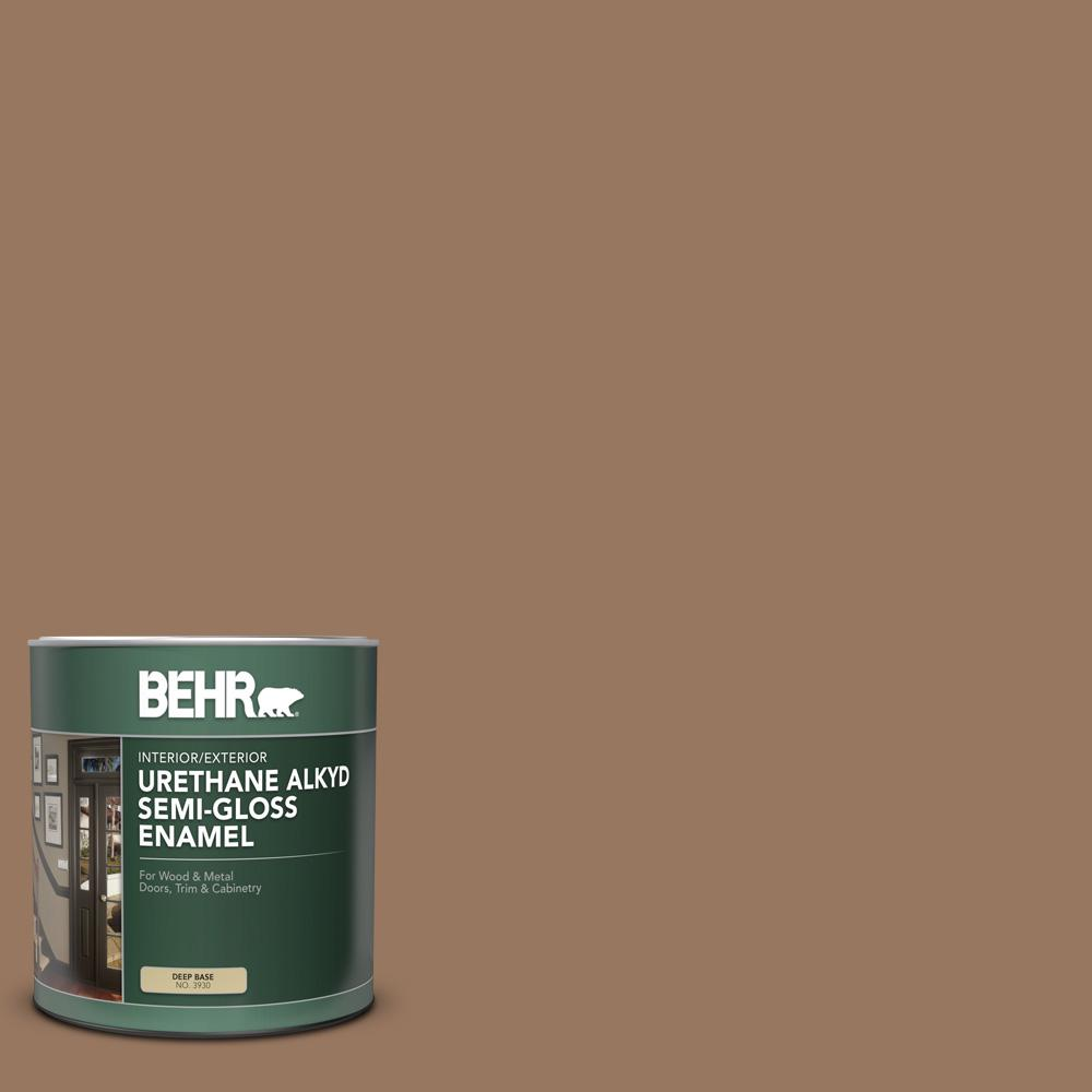 BEHR 1 qt  #MS-18 Clay Brown Semi-Gloss Enamel Urethane Alkyd  Interior/Exterior Paint