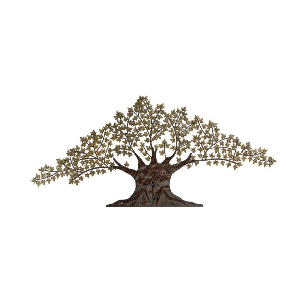 Green and Brown Metal Maple Tree Wall Decor