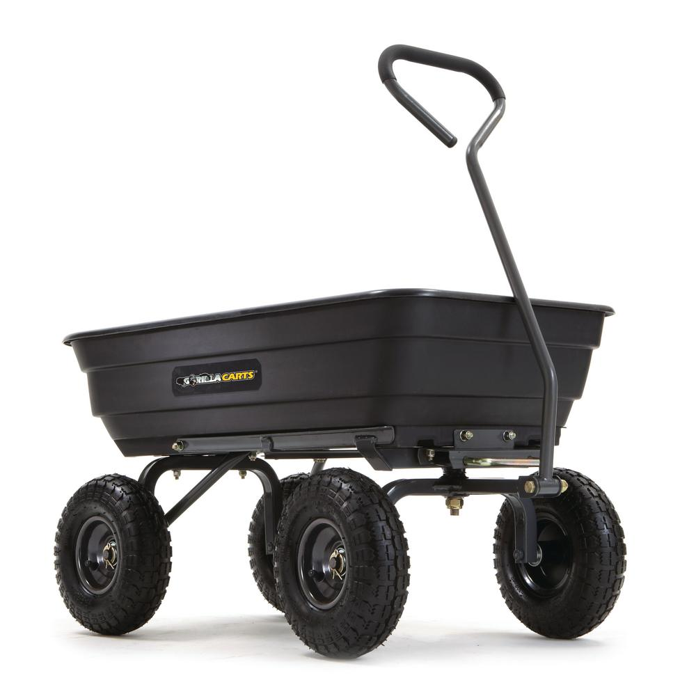 Gorilla Carts 600 lb. Poly Garden Dump Cart