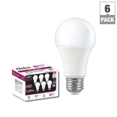 60W Equivalent Warm White A19 LED Light Bulb (6-Pack)