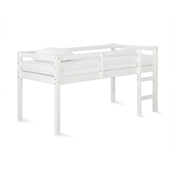Dorel Living Anders White Junior Twin Loft Bed FH8377