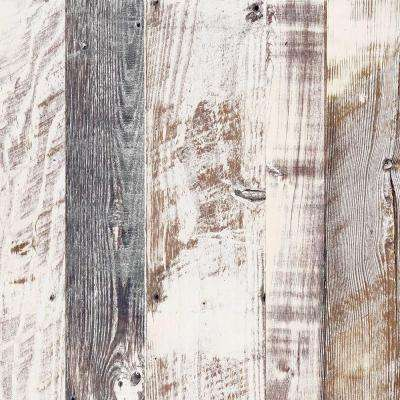 8 in. x 10 in. Laminate Sample in Antique Limed Pine with Virtual Design Gloss Line Finish