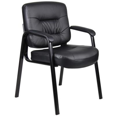 Black Executive Mid Back LeatherPlus Guest Chair