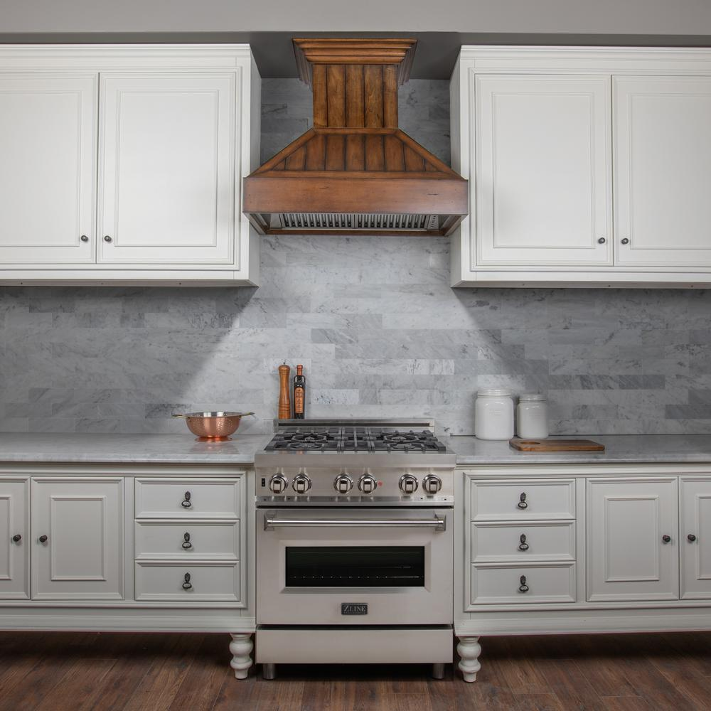 Zline Kitchen And Bath 36 In 1200 Cfm Shiplap Wooden Wall Mount Range Hood With Lights Rustic Light