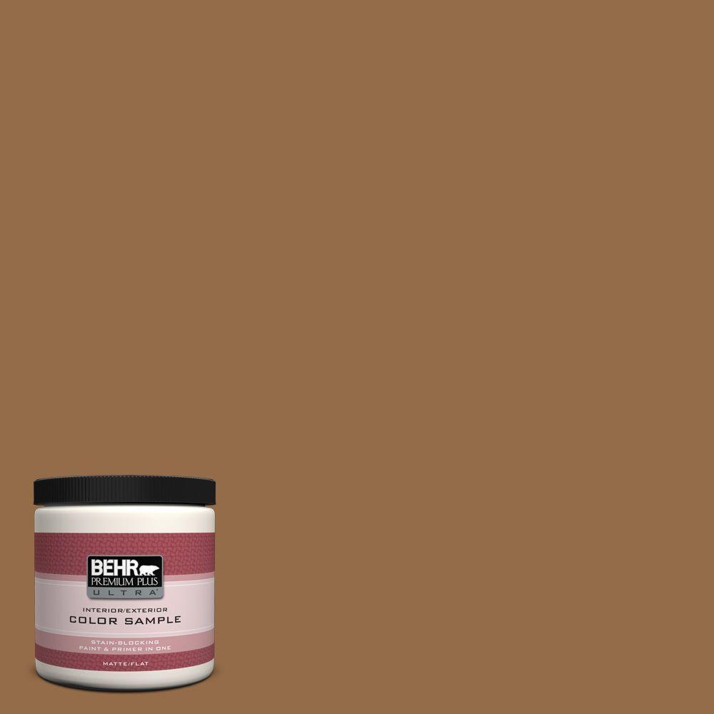 BEHR Premium Plus Ultra 8 oz. #S260-7 Nugget Gold Interior/Exterior Paint Sample