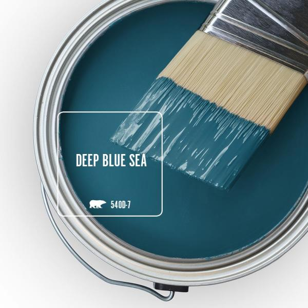 Reviews For Behr Marquee 1 Gal 540d 7 Deep Blue Sea Flat Exterior Paint Primer 445301 The Home Depot