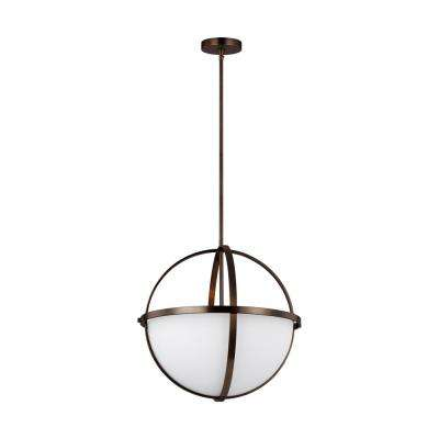 Alturas 3-Light Brushed Oil Rubbed Bronze Pendant