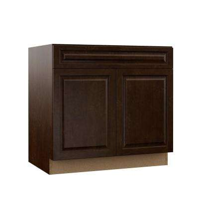 Gretna Assembled 36x34 5x23 75 In Sink Base Kitchen Cabinet In Espresso