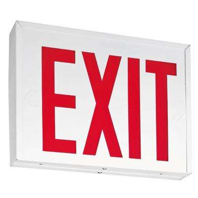 New York Approved White Steel LED Emergency Exit Sign with Battery