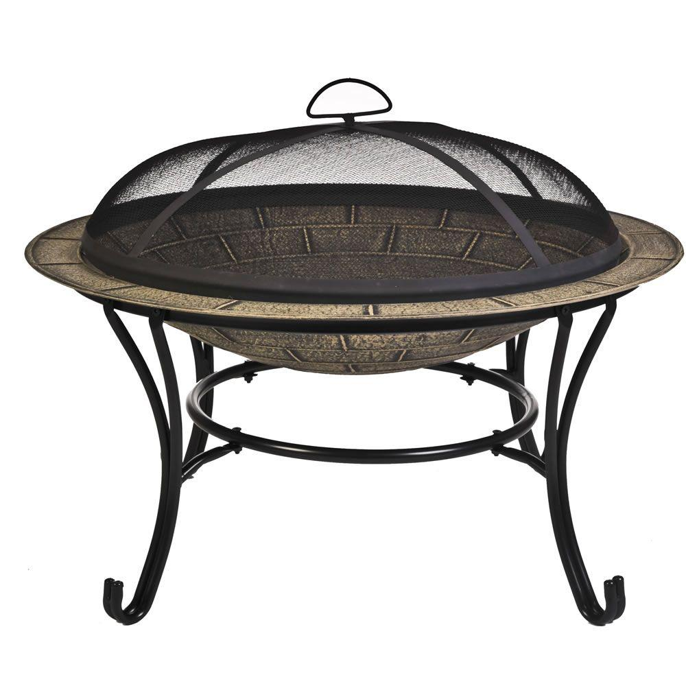 CobraCo Cast Iron Brick Design Fire Pit