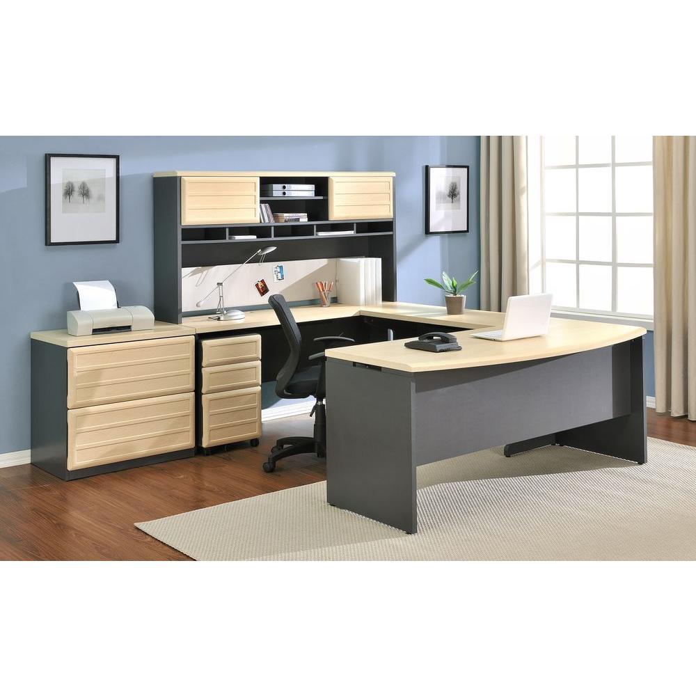 Altra Furniture Pursuit Natural and Gray Desk by Altra Furniture