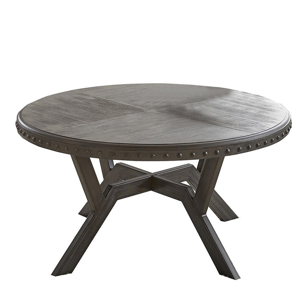 Alamo 36 in. Gray Medium Round Wood Coffee Table