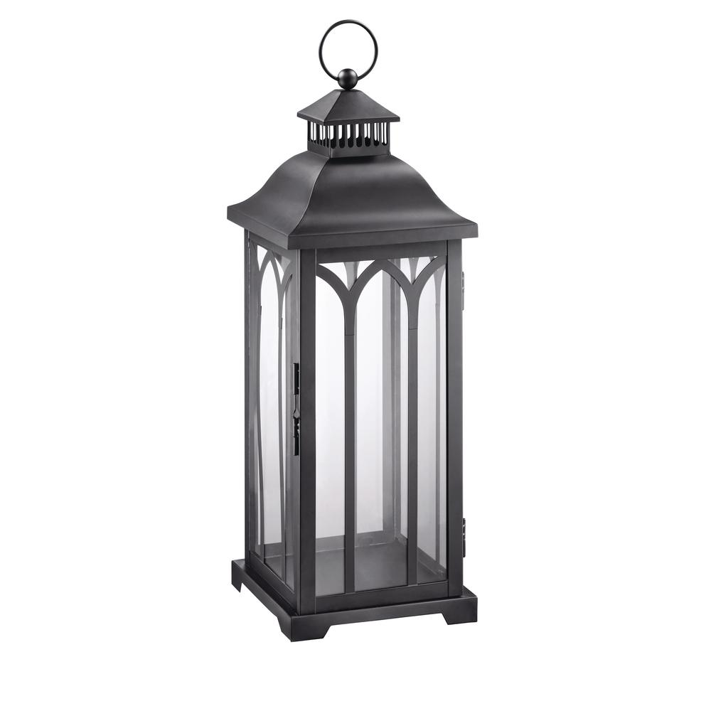 Hampton Bay 30 In Metal Lantern In Black Hd16007xl The