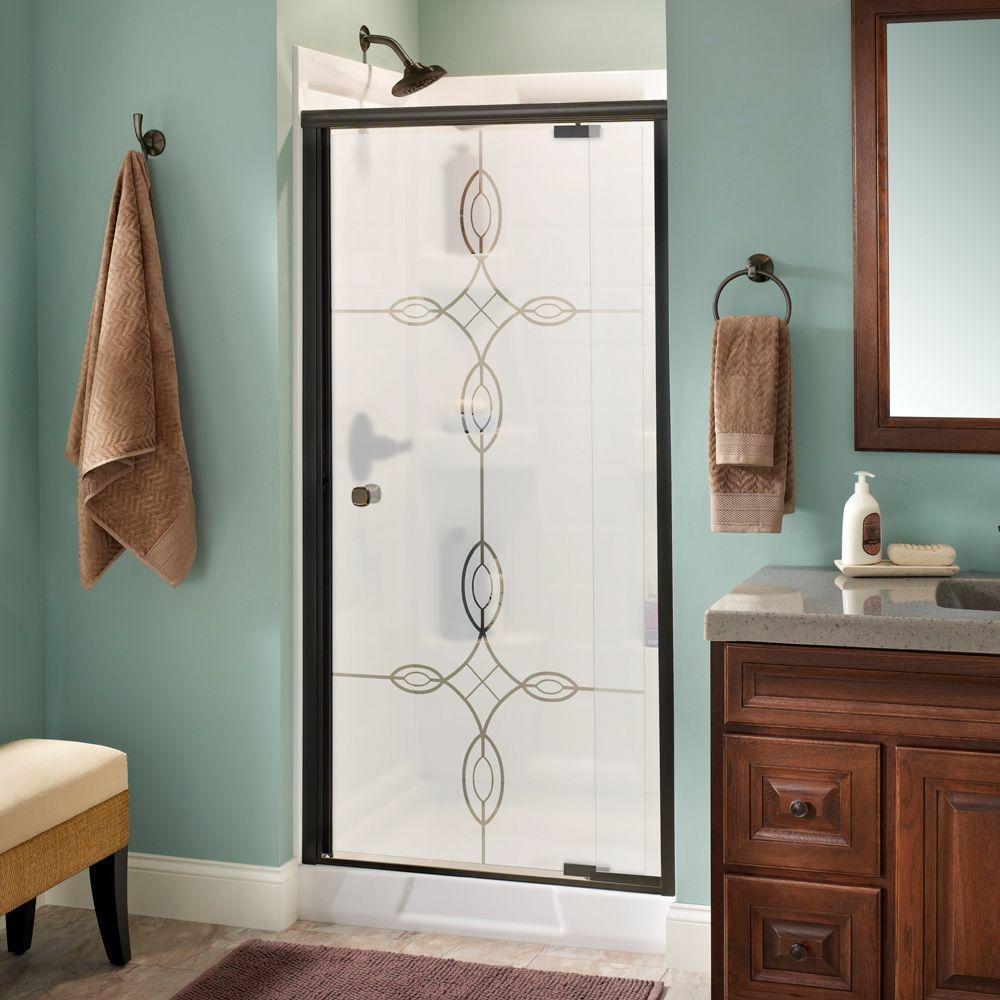Delta mandara 36 in x 66 in semi frameless pivot shower door in delta mandara 36 in x 66 in semi frameless pivot shower door in planetlyrics Gallery