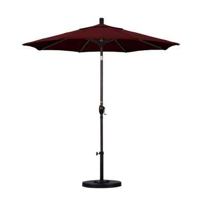 7-1/2 ft. Fiberglass Push Tilt Patio Umbrella in Burgundy Pacifica