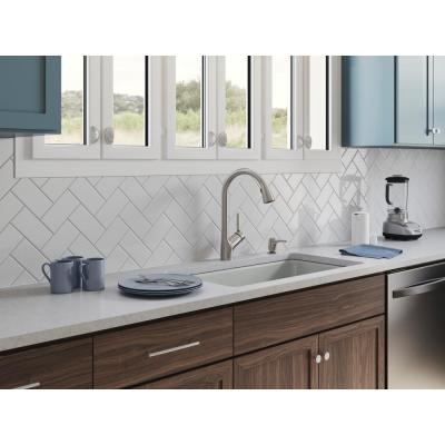 Setra Single-Handle Voice Activated Pull-Down Sprayer Kitchen Faucet with Kohler Konnect in Vibrant Stainless