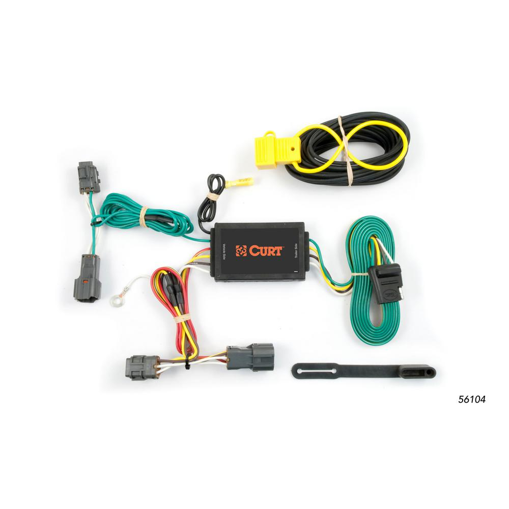 Miraculous Curt Custom Wiring Harness 4 Way Flat Output 56104 The Home Depot Wiring 101 Taclepimsautoservicenl