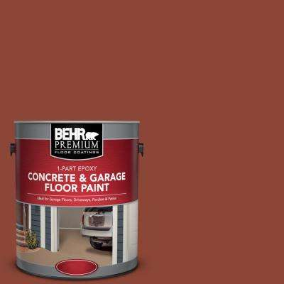1 gal. #SC-330 Redwood 1-Part Epoxy Satin Interior/Exterior Concrete and Garage Floor Paint