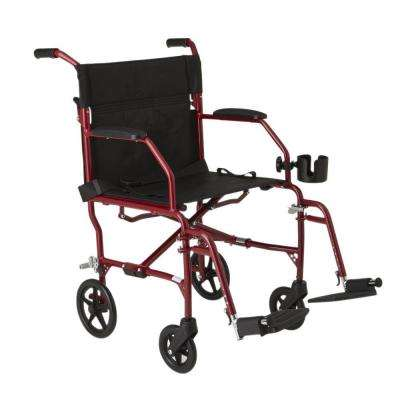 Freedom Transport Wheelchair in Burgundy