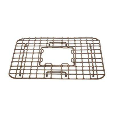 SinkSense Gehry 14 in. Kitchen Sink Bottom Grid Heavy Duty Vinyl Coated in Antique Brown