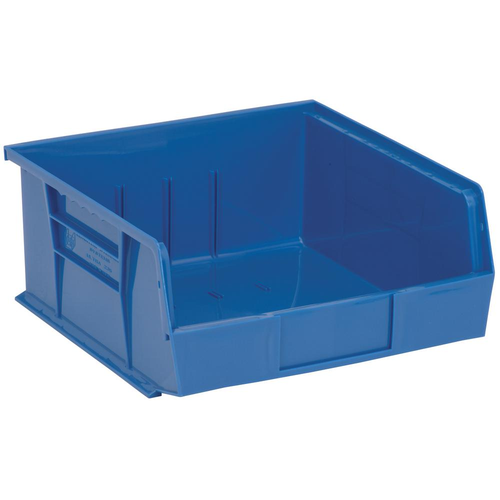 Ultra Series Stack and Hang 6 Gal. Storage Bin in Blue