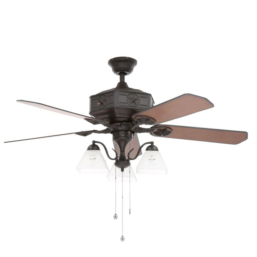 Lonestar Ii 52 In Indoor Natural Iron Ceiling Fan With