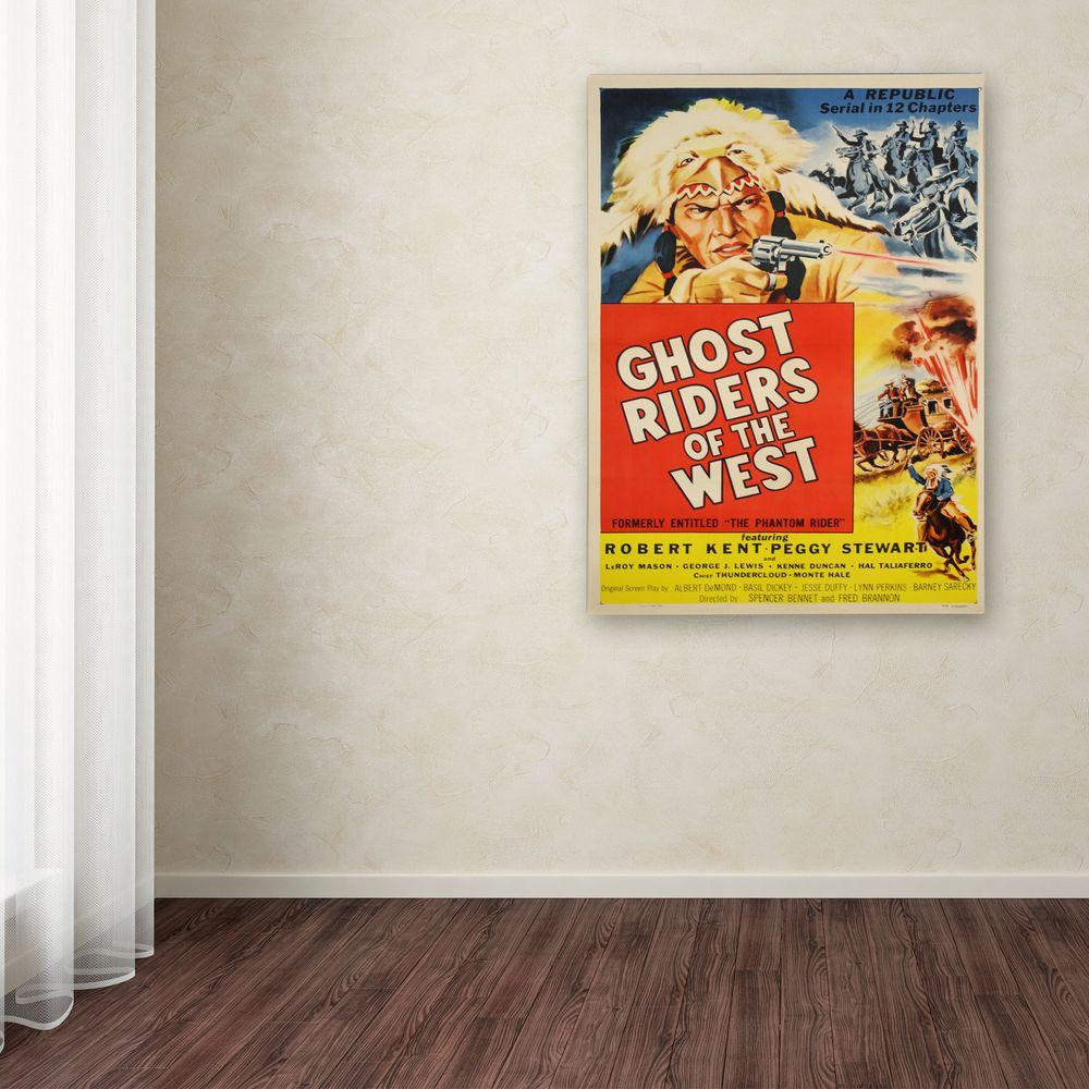 19 in. x 14 in. Ghost Riders of the West Canvas