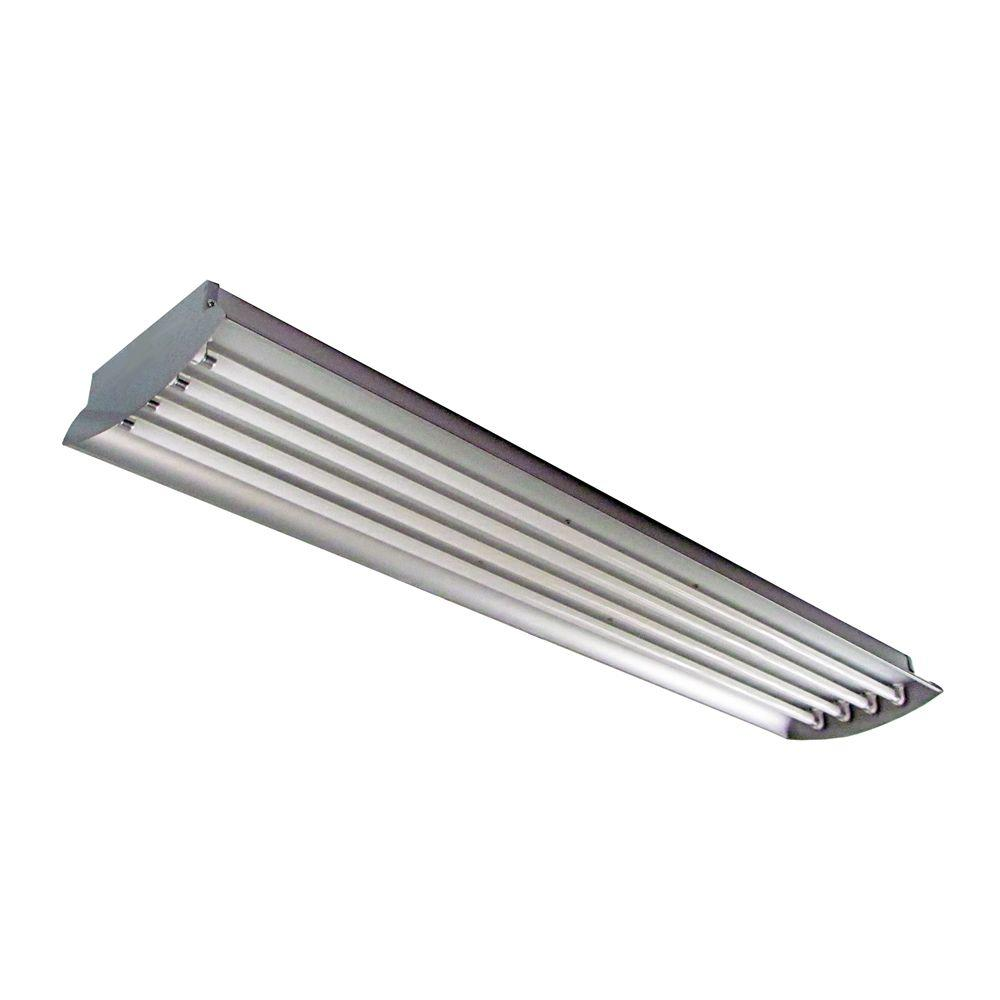 HomeSelects 4 ft. 4-Lamp High Output 54-Watt (Each) T5 Aluminum Fluorescent High Bay Light Fixture-DISCONTINUED
