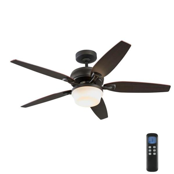 Arrano 52 in. Integrated LED Indoor Oil Rubbed Bronze DC Ceiling Fan with Light Kit and Remote Control