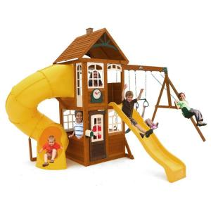 Kidkraft creston lodge wooden playset f24953 the home depot lewiston retreat wooden playset publicscrutiny Image collections