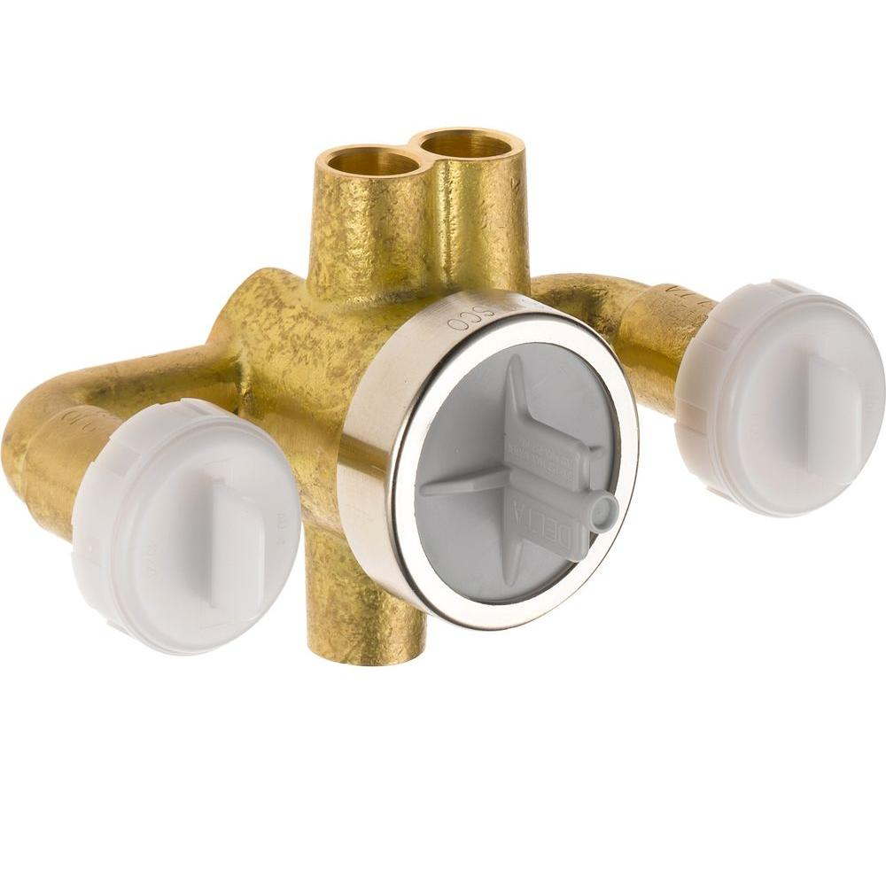 Jetted Shower 6-Setting Rough-In Valve with Extra Outlet