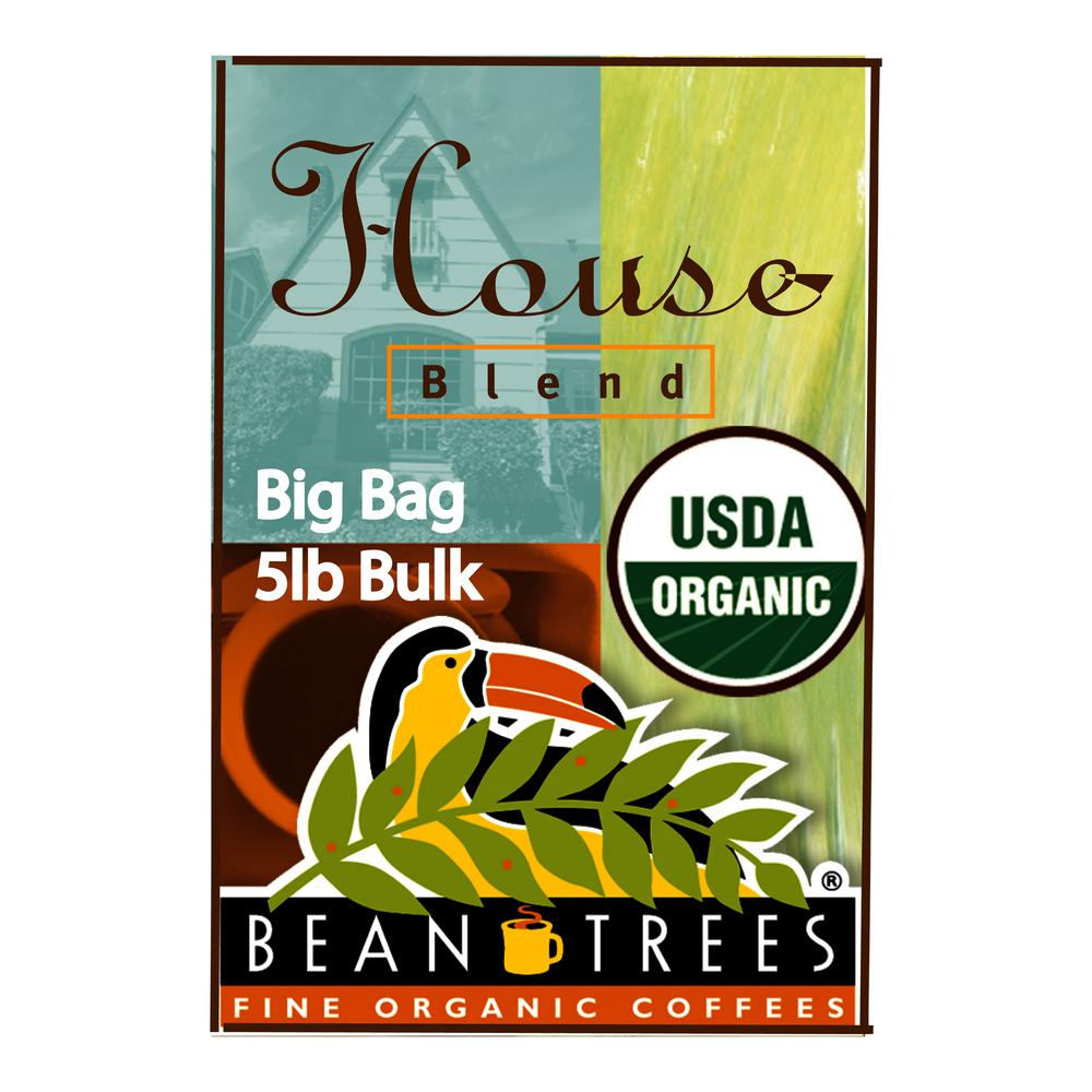 5 lb. House Blend Coffee Bag Coffee Whole Beans (1-Bag)