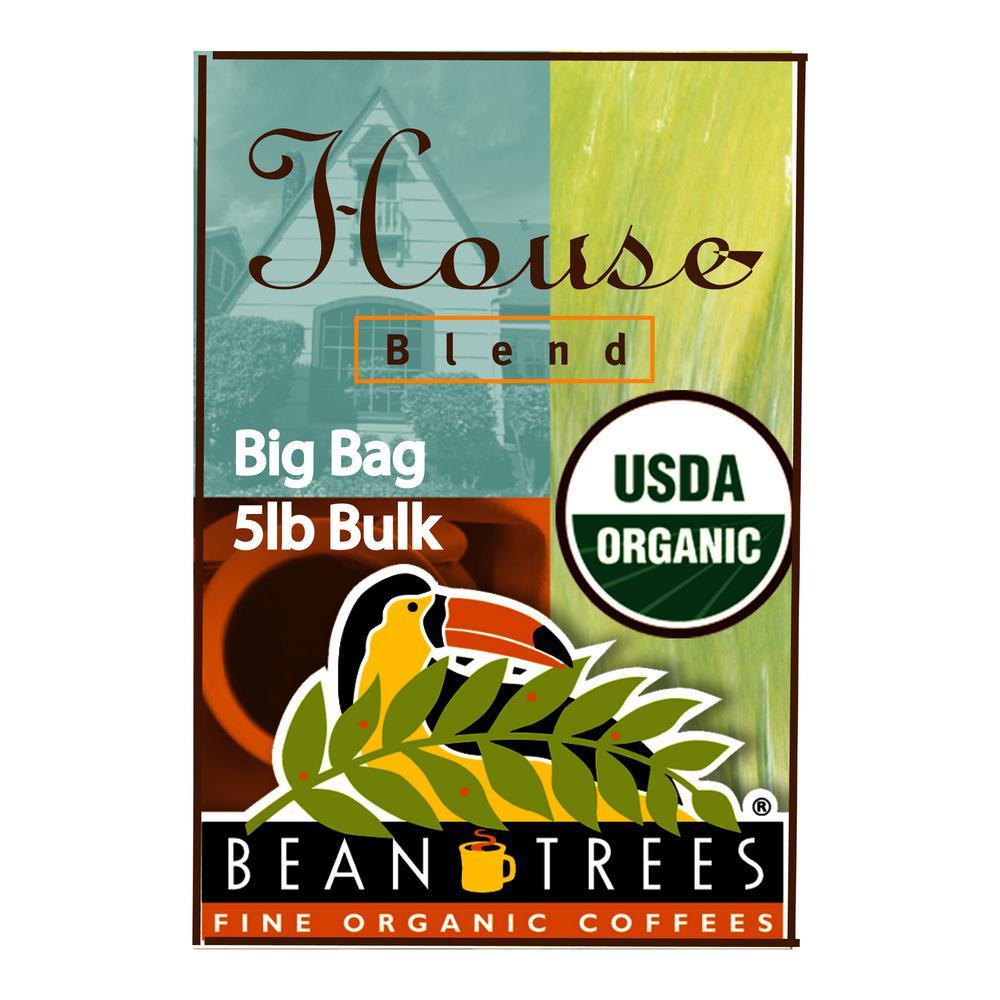 5 lb. House Blend Coffee Bag Coffee Whole Beans (1-Bag)