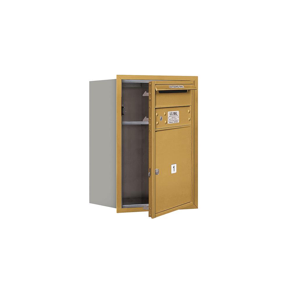 3700 Horizontal Series 1-Compartment Recessed Mount Mailbox