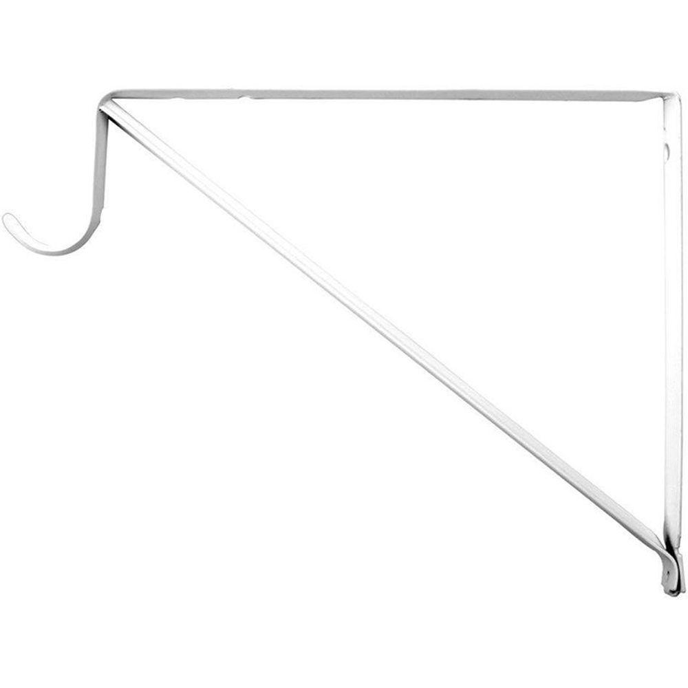 Everbilt 10 In X 3 4 In White Shelf And Rod Bracket Hd 0045 Wt