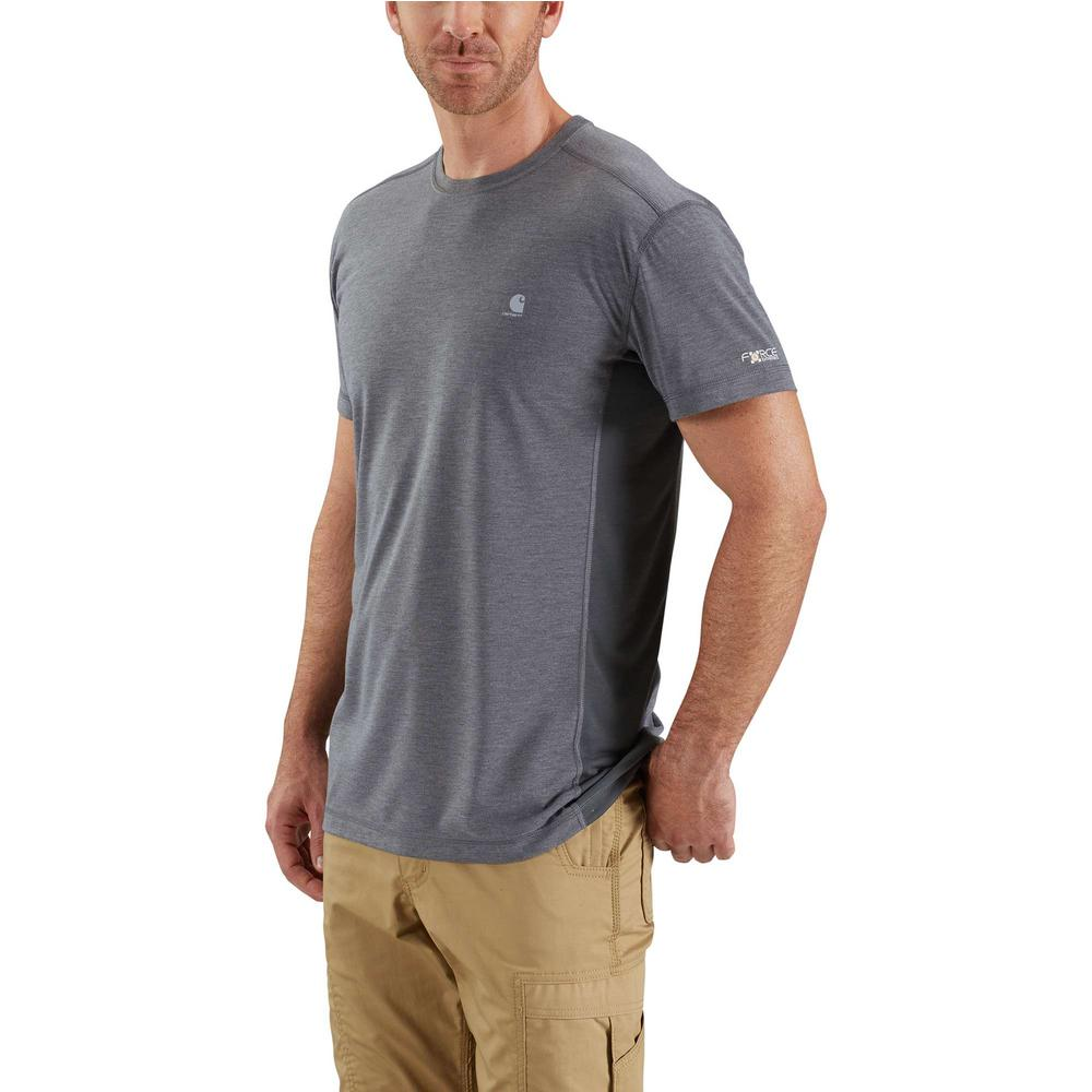 a391aa35c2db Men's Extra Large Shadow Heather/Shadow Polyester/Cocona Force Extremes  Short Sleeve T-Shirt