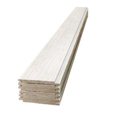 1 in. x 8 in. x 8 ft. Barn Wood White Shiplap Pine Board (6-Pack)