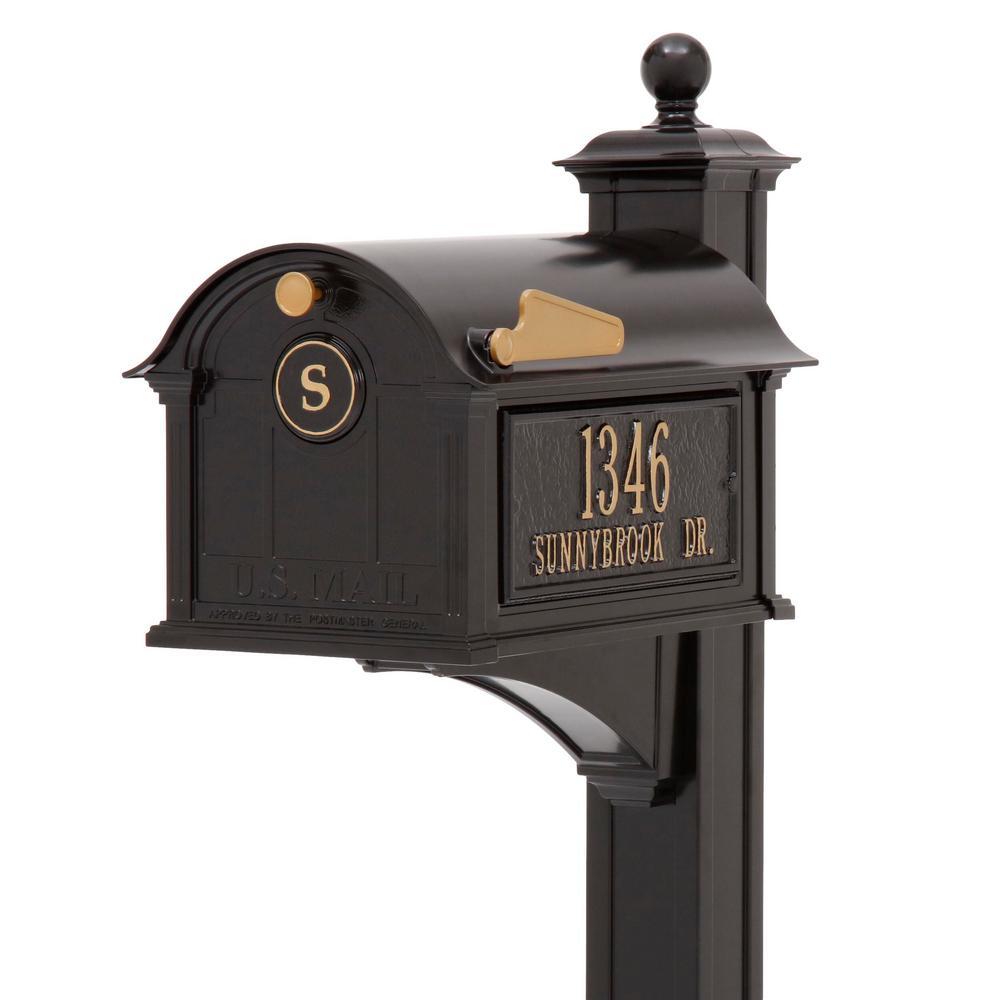 Balmoral Black Streetside Monogram Mailbox Package