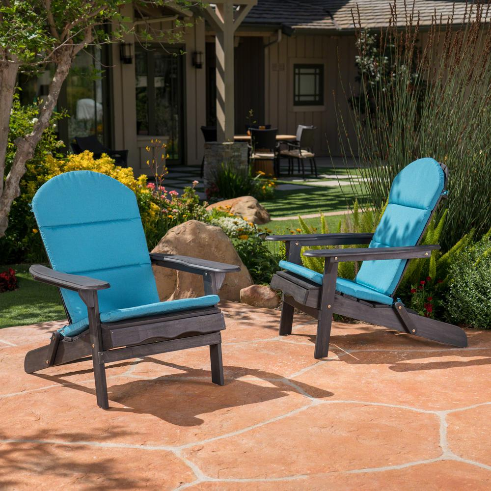 Malibu Dark Teal Outdoor Adirondack Chair Cushion (2 Pack)