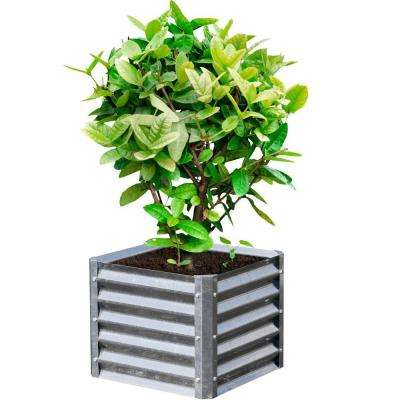 Alto Series 22 in. x 22 in. x 17 in. Square Galvanized Metal Planter