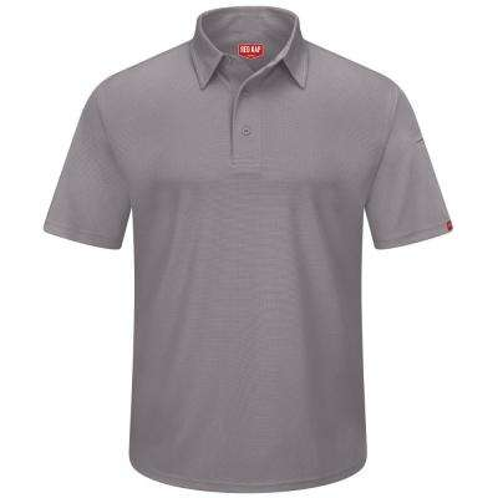 Men's Size 4XL Grey Professional Polo