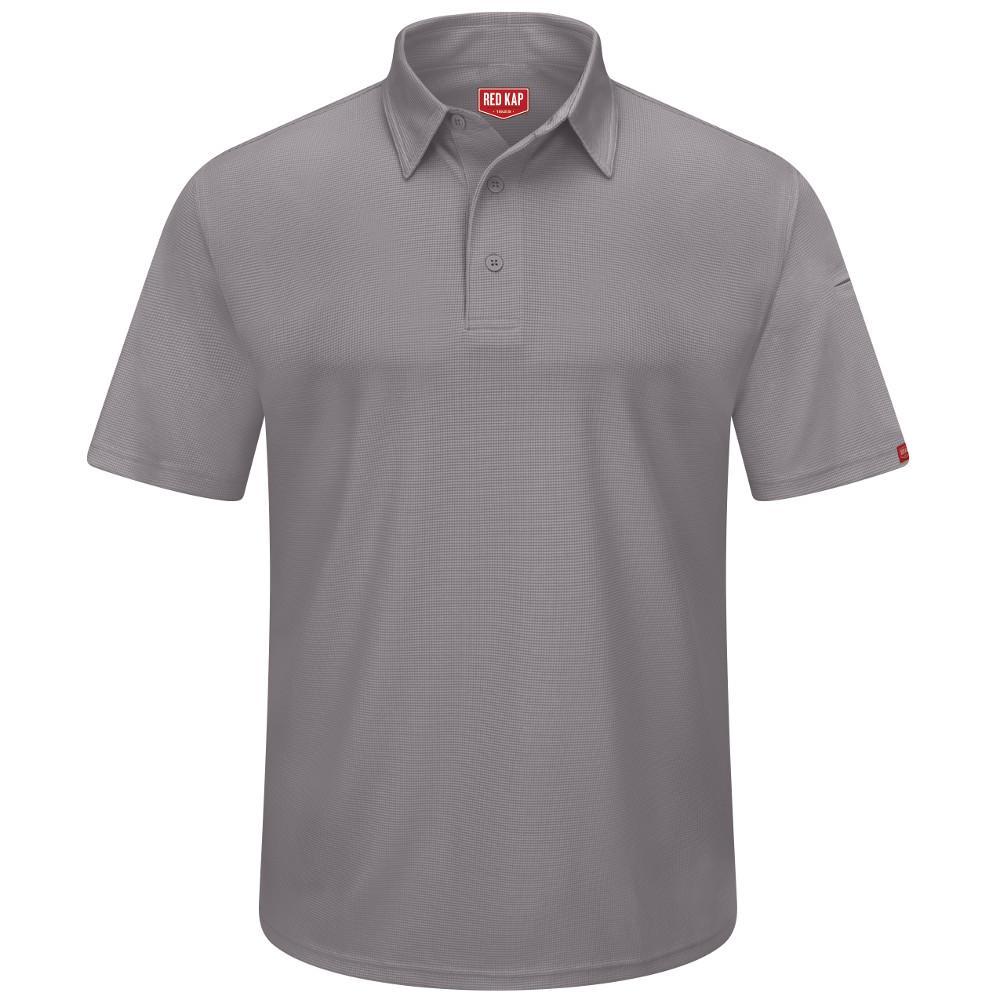 Men's Size 2XL Grey Professional Polo
