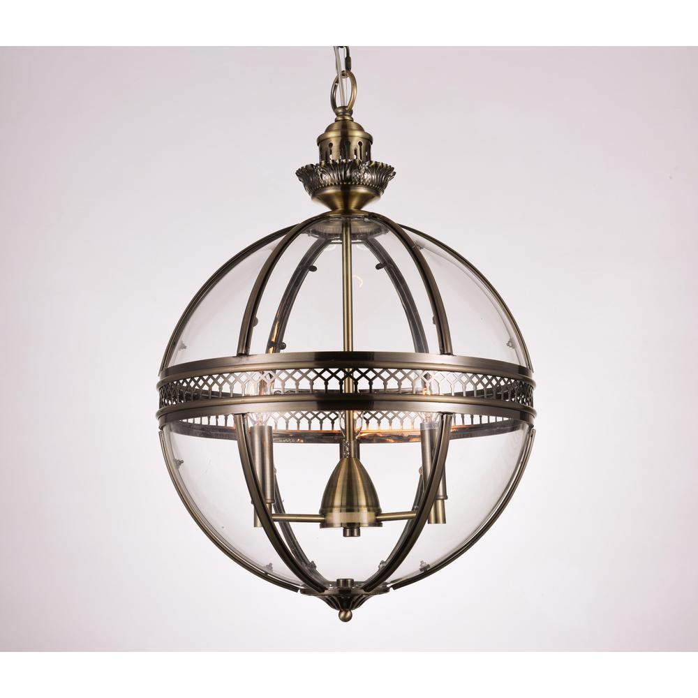 Lune 3-Light Bronze Pendant