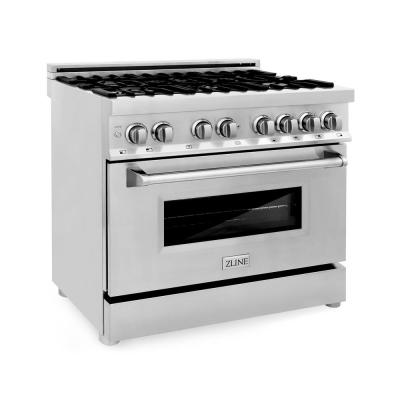 ZLINE 36 in. Professional Dual Fuel Range in Stainless Steel (RA36)