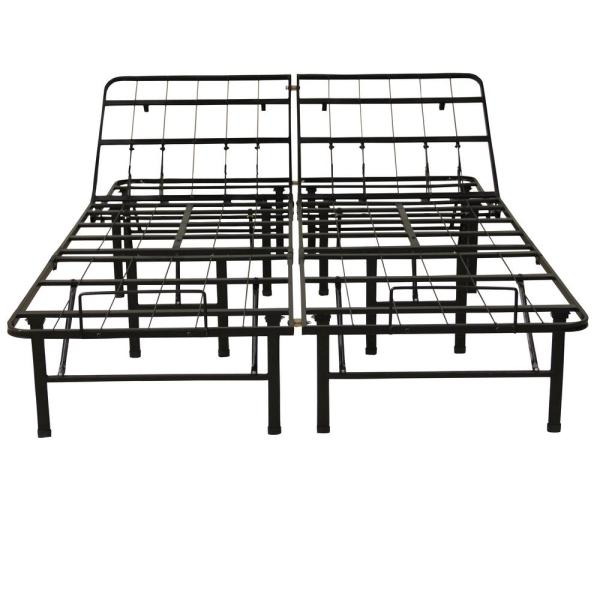 Hercules Twin XL-Size 14 in. H Adjustable Heavy Duty Metal Platform Bed Frame