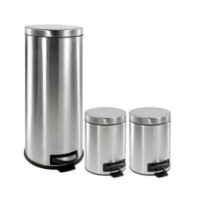 hdx stainless steel trash cans hdx cb30 5 1x2 64_400_compressed trash cans trash & recycling the home depot HDX Outdoor Trash Can at bayanpartner.co