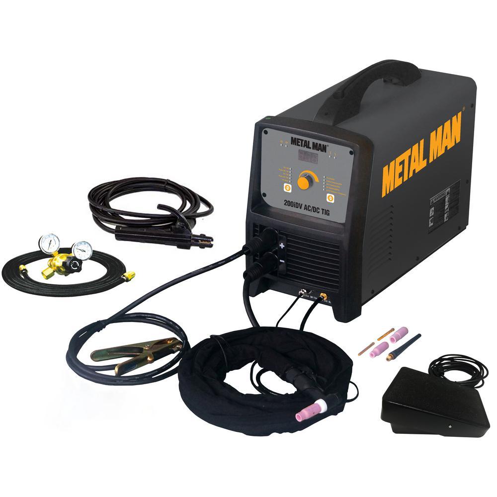 METAL MAN 200 Amp Inverter AC/DC TIG Welder